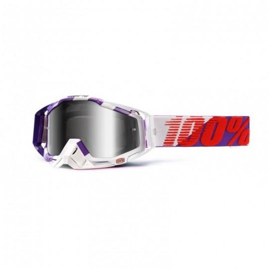 Masque lunettes 100% Racecraft Purple Main - écran miroir