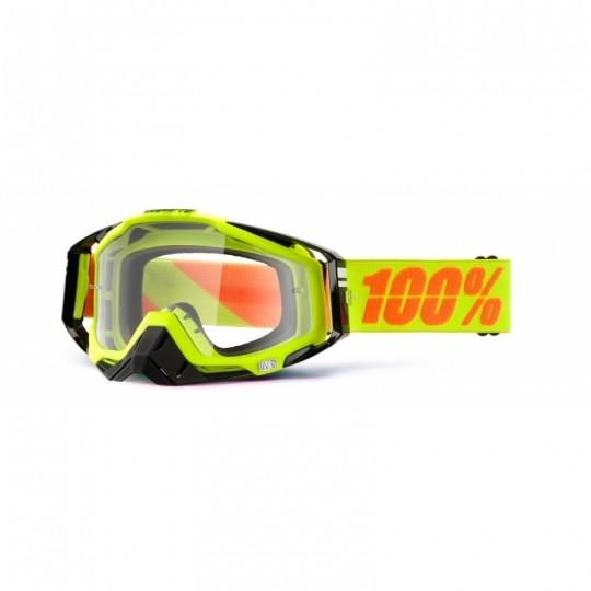 Masque lunettes 100% Racecraft Néon Sign - écran transparent