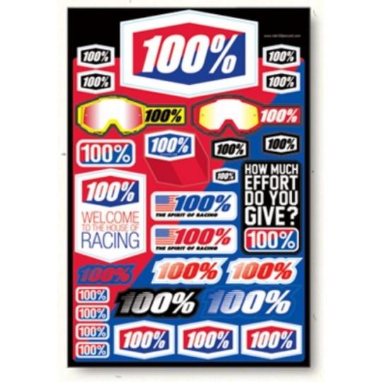 Planche d'autocollants 100%
